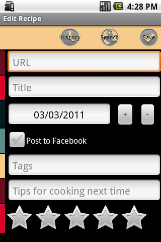 Mibori Recipe Organizer FREE - screenshot