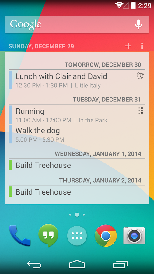 Calendar Widget - screenshot