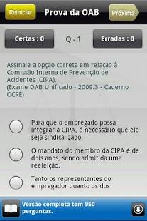 Prova da OAB Lite- screenshot thumbnail