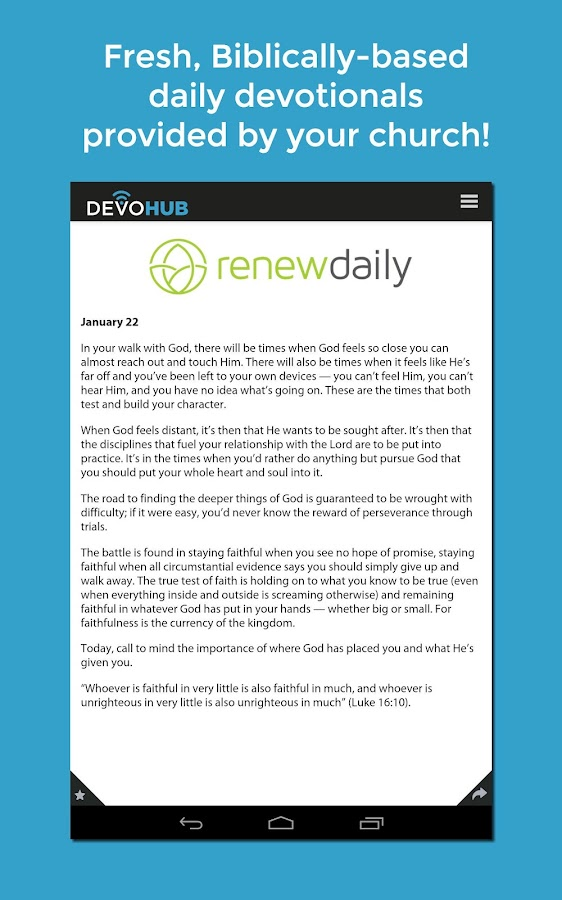 DevoHub: Daily Devotions- screenshot