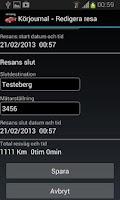 Screenshot of Körjournal Pro