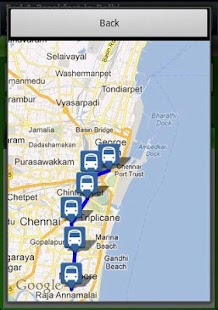 MTC bus route - screenshot thumbnail