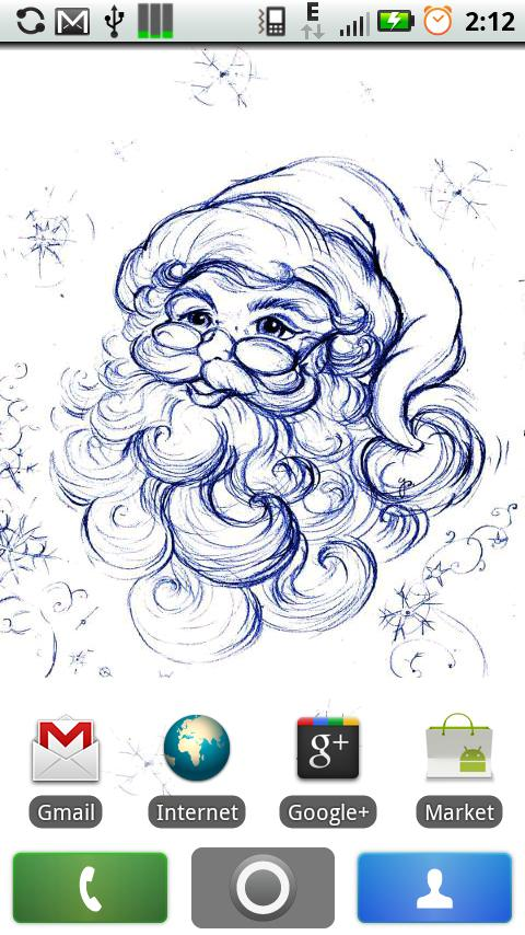 Santa Claus Live Wallpaper - screenshot