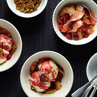 Spiced Cranberry-Pear Sundaes