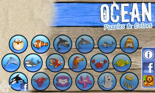 海洋 - 拼图和色彩为孩子
