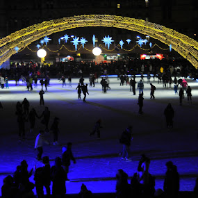 open ice rink by David Chu - Buildings & Architecture Public & Historical ( #toronto @canada #year of the horse 2014 @go4david @chu @cbcnews @david @kha0s productions @news @toronto @ontpoli @cdnpoli @trin-spa @kensington market @chinatown @city new year's celebration 2014,  )