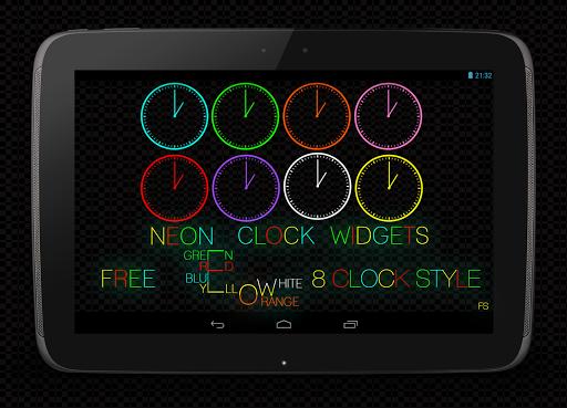 Neon Clock Widgets
