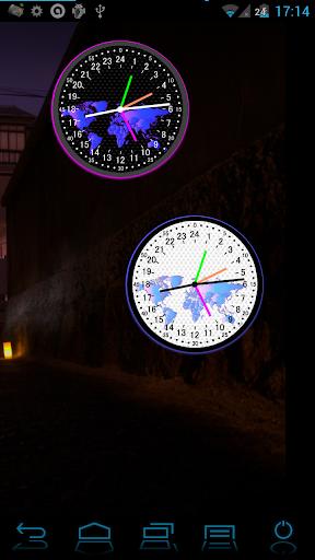 24時間アナログ世界時計 無料