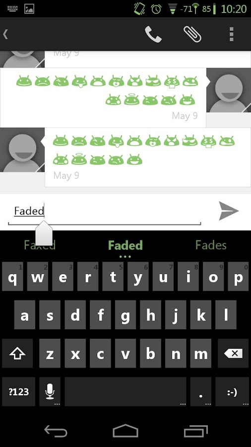 Faded Green CM11 AOKP Theme- screenshot