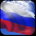 3D Russia Flag + icon