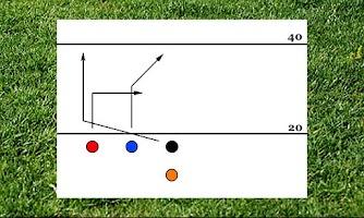 Screenshot of 4 Man Flag Football Playbook