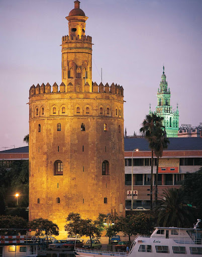 Torre-del-Oro-Seville - Torre del Oro, or the Gold Tower, in Seville, southern Spain, was variously used as a store house, prison and fortress since the 13th century.