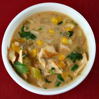 Creamy Mexican Turkey Soup.