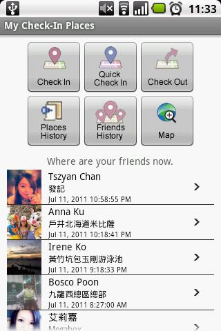 My Checkin Places for Facebook- screenshot