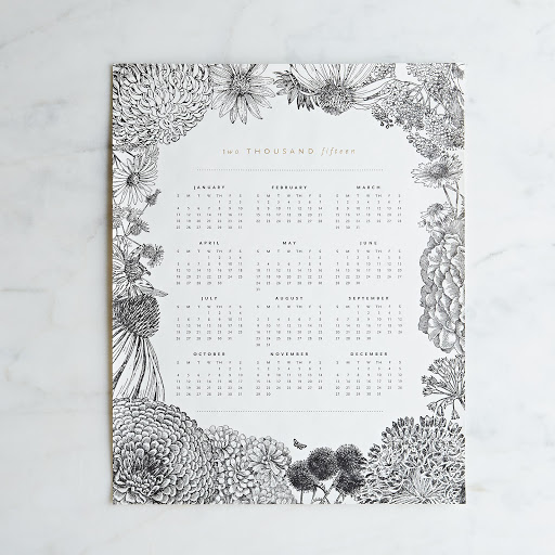 2015 Letterpress Printed Calendar