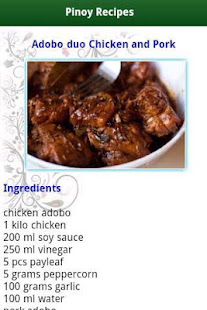 Pinoy food recipes apps on google play screenshot image forumfinder Images
