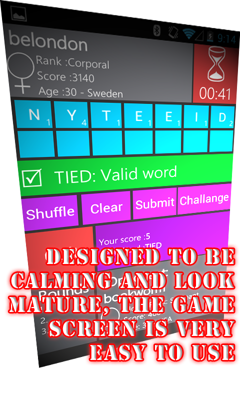 WordWarX Anagram Word Game - screenshot