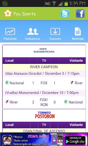 FPC SPORTS FUTBOL COLOMBIANO