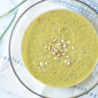 Garlic Scape Basil Soup