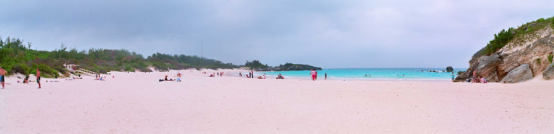 The pink sands of Horseshoe Bay, Bermuda.