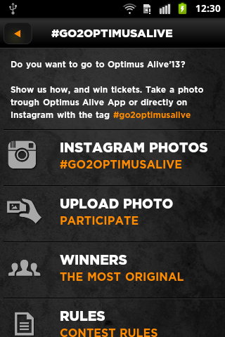 Optimus Alive 2013 - screenshot