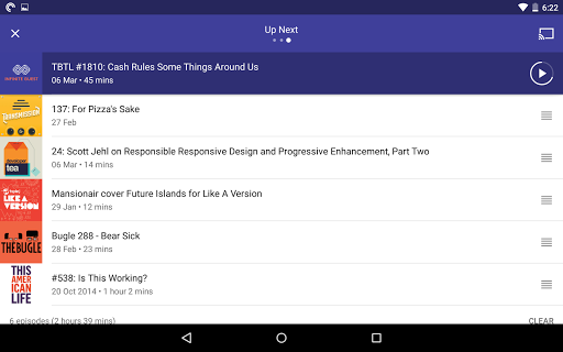 Screenshot for Pocket Casts in United States Play Store