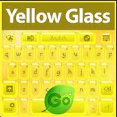 GO Keyboard Yellow Glass