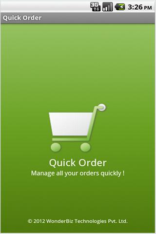 Quick Order- screenshot