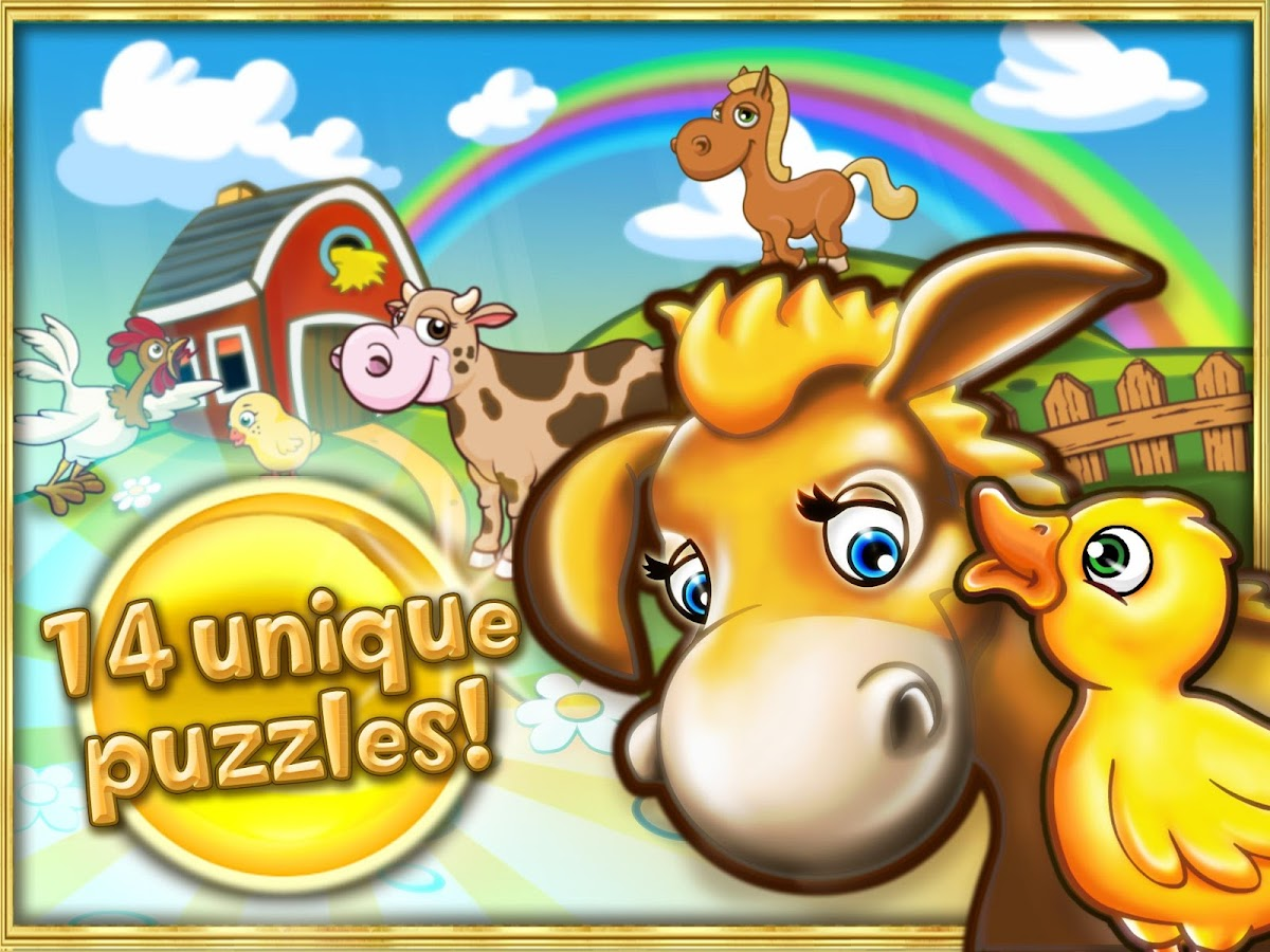 Animal puzzle for kids farm HD- screenshot