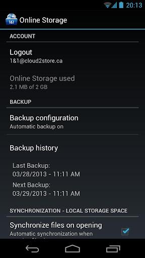 1&1 Online Storage apk screenshot 4