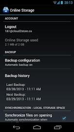 1&1 Online Storage Screenshot 4