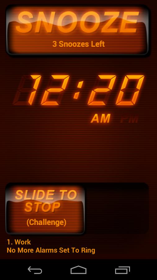 SureFire Alarm Clock - screenshot