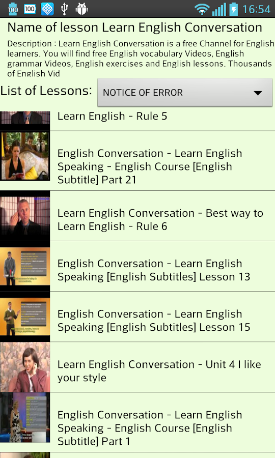Learn English Online by Video - screenshot