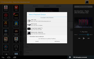 Screenshot of PlayTo Samsung TV