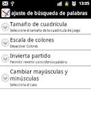 Screenshot of Word Search Spanish