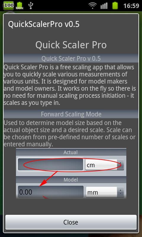 Hobby Model Scaler - screenshot