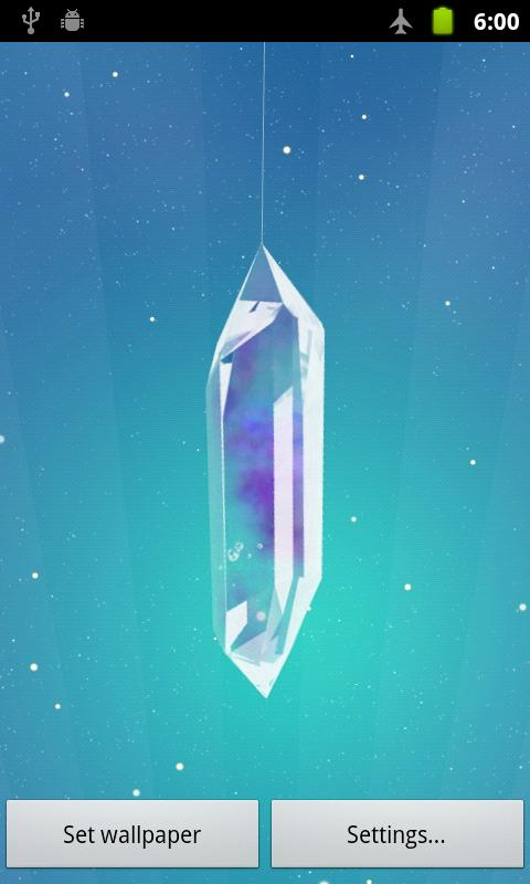 Lucky Crystal Live Wallpaper - screenshot