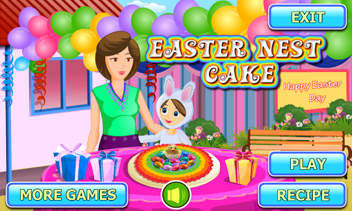 Easter Nest Cake Cooking