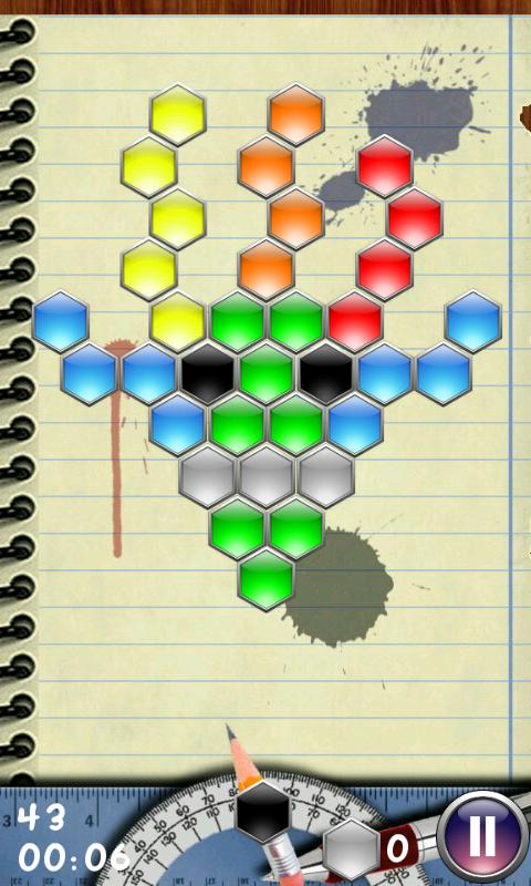 Hexagon - shoot bubbles- screenshot
