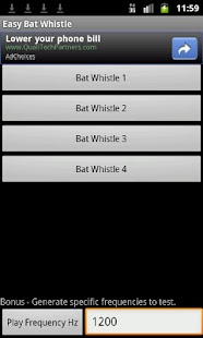 Easy Bat Whistle screenshot 1