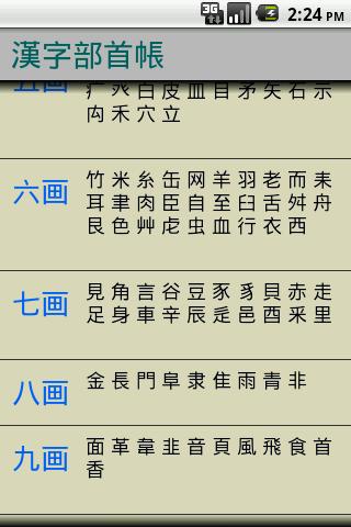 漢字部首帳