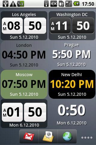 World Clock Widget Pro- screenshot