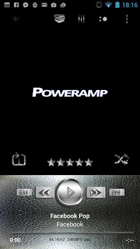 Poweramp Skin Silver Plata