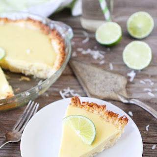 Key Lime Pie with Coconut Macaroon Crust.