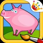 农场 - 拼图和色彩为孩子 icon