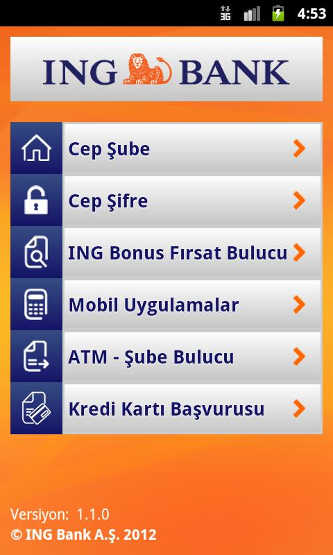 ING Mobil- screenshot