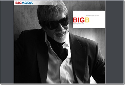 Amitabh Bachchan's Blog in big adda is one of the most visited blogs of the blogosphere