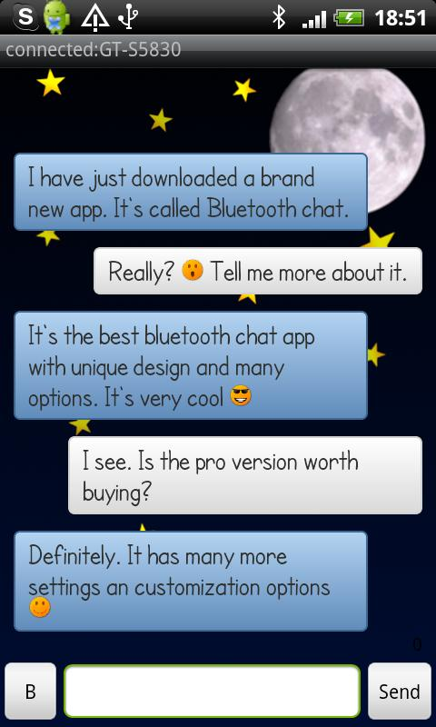 Bluetooth Chat Pro - screenshot