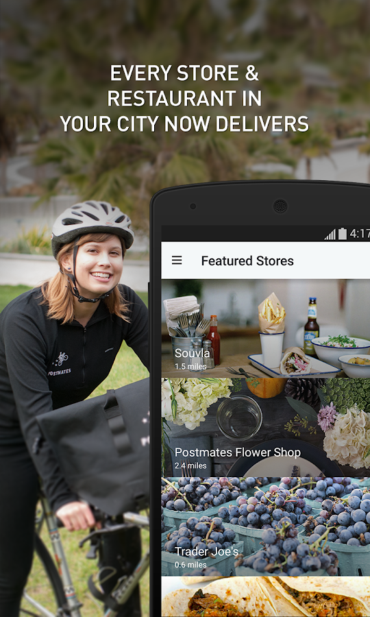 Postmates- screenshot