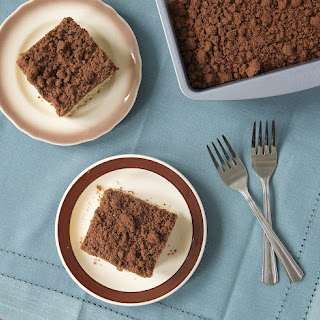 Peanut Butter Coffee Cake with Chocolate Crumb Topping